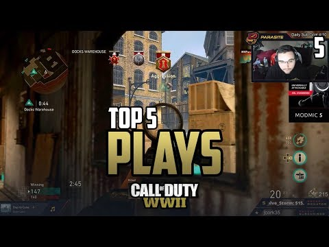 PARASITE RAMPAGE vs Red Reserve - COD WWII: TOP 5 PRO PLAYS #5 - Call of Duty World War 2