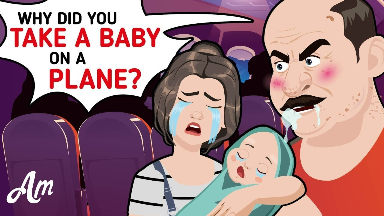 A Rude Man Was INSULTING A Poor MOM Over Her Crying BABY  - @AmoMama