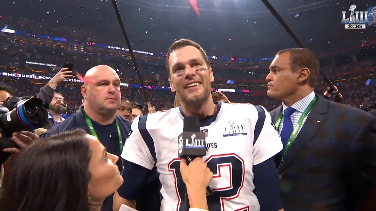 Tom Brady Super Bowl LIII Interview | NFL