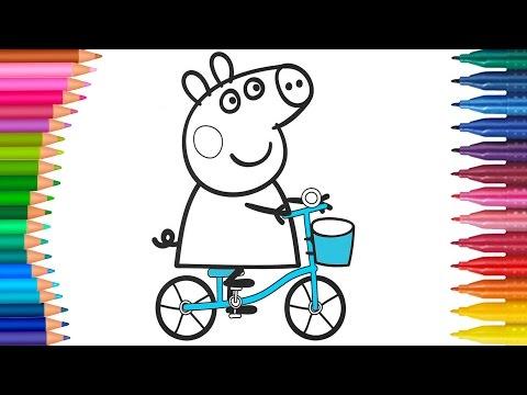 Peppa Pig çizgi Film Karakter Boyama 1 Araba Gezisi Minik Eller