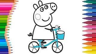 Peppa Pig Çizgi Film Karakteri Boyama Sayfası | Minik Eller Boyama Kitabı
