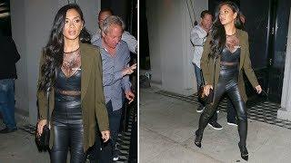 Tight Nicole leather pants scherzinger