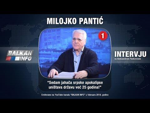 INTERVJU: Milojko Pantić - Sedam jahača srpske apokalipse uništava državu već 25 godina! (10.2.2018)