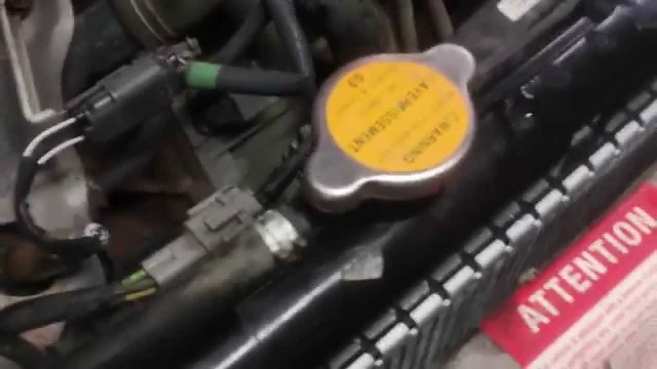 Nissan radiator replacet - YouTube