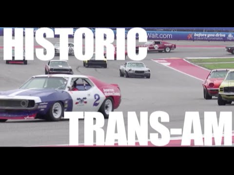 Historic Trans-Am race at COTA in the wet!