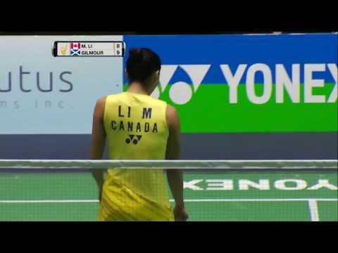 Yonex US Open 2017 | Badminton SF M1-WS | Michelle Li Vs Kirsty Gilmour