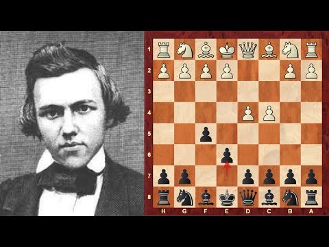 Classic Chess game: Daniel Harrwitz vs Paul Morphy (1858) : Dutch Defense: Rubinstein Variation