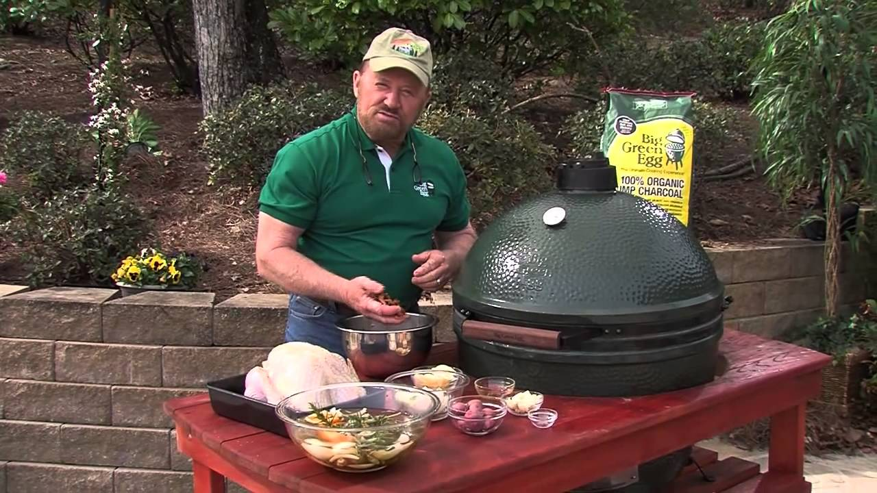 Smoked Brined Turkey - Cooked on the Big Green Egg - YouTube