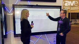 ISE 2020: UC Central Demo at Avocor Booth - Gary Kayye Interviews Angela Hlavka
