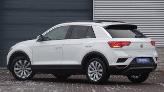 Volkswagen NEW T-roc Style 2019 Pure White 17 inch Kulmbach walk around & detail inside