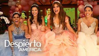 Thalía armó alboroto al encontrarse con las quinceañeras de Despierta América