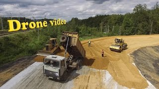 drone video cat d4h lgp spreading sand