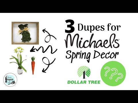 3 Spring DIY's | Michaels Dupes Using Dollar Tree Items
