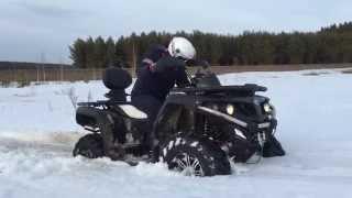 CF MOTO X5 H.O. EPS Ползет по снегу(, 2015-03-21T15:31:29.000Z)