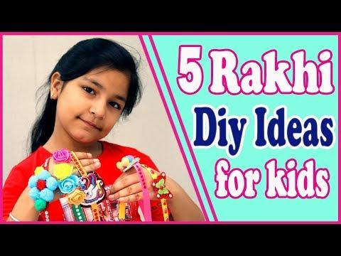 Easy Rakhi Making For School Competition | Rakhi Making For Kids(Diy Rakhi)2019, AishminDiy