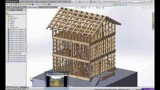 Проектирование и строительство каркасного дома  Часть №2  Виртуальная стройплощадка в SolidWorks  Св