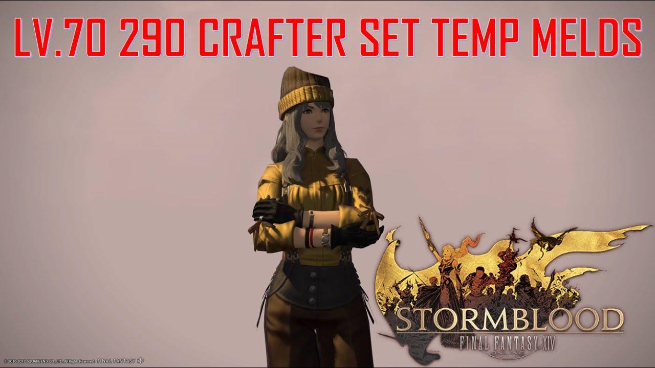 Final Fantasy XIV: Stormblood - Lv 70 Crafter Set Temporarily Melds