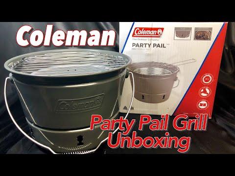 Coleman Party Pail Portable Grill Unboxing