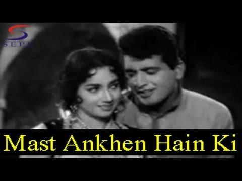 Mast Ankhen Hain Ki Paimane Do - Asha Bhosle, Mohammed Rafi - NAQLI NAWAB - Manoj Kumar, Ashok Kumar