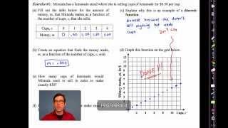 Common Core.Algebra I.Unit #11.Lesson #3.Discrete Functions by eMathInstruction