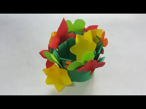 Paper Bouquet Beautiful Garden Baby Craft Christmas Craft