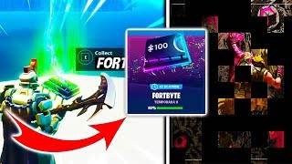 ALL FORTBYTES UNLOCKED!! HIDDEN IMAGE BEHIND PUZZLE FORTBYTE Fortnite