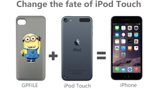 """iPod Touch 5/6th become iPhone 5/6 realize call SMS functions with """"GPFILE"""" Dual SIM adapter"""