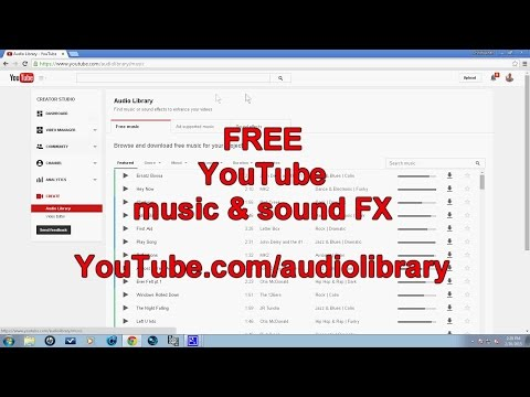 FREE LEGAL music and sound FX from YouTube!