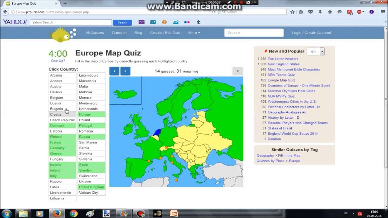 Europe map quiz youtube europe map quiz gumiabroncs Gallery