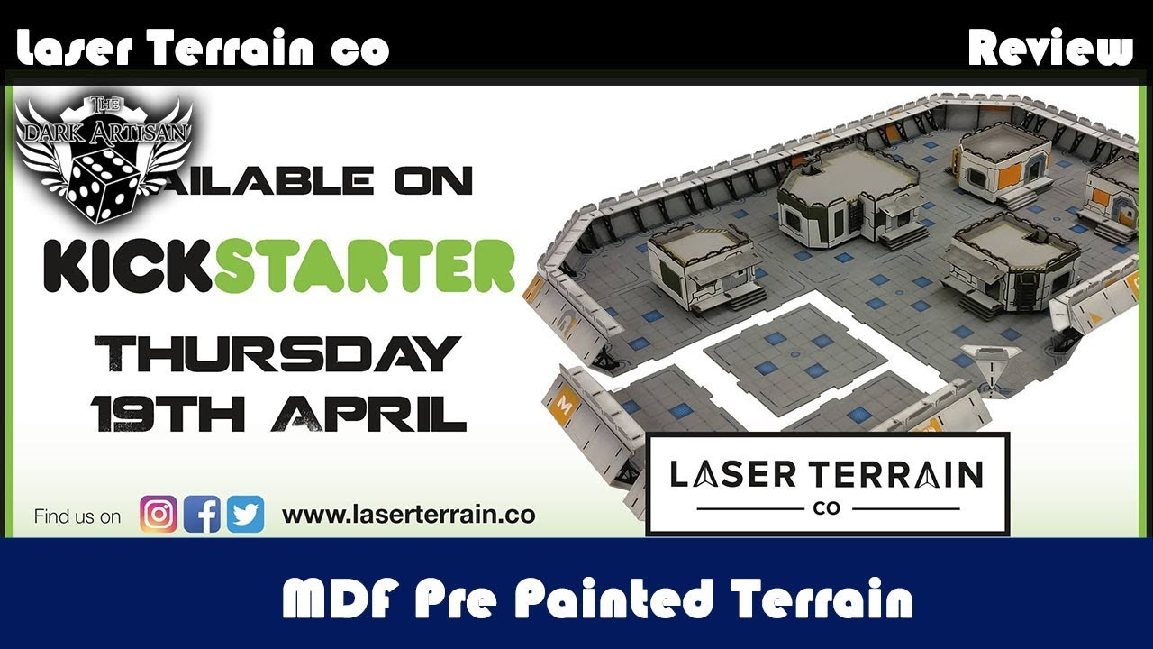 REVIEW!! Laserterain co Pre Painted MDF terrain For Warhammer 40K and more!