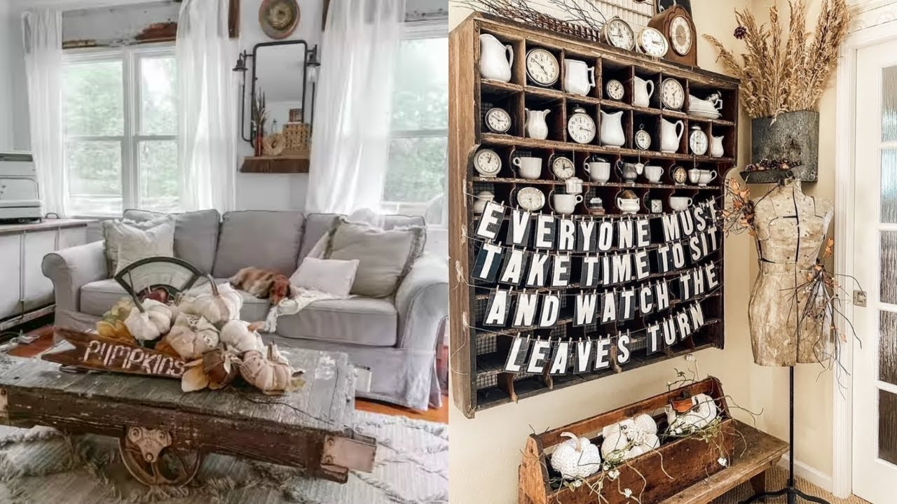 Antique Farmhouse Styled Home Tour | Fall Decorating Ideas 2021 | Fall Inspiration
