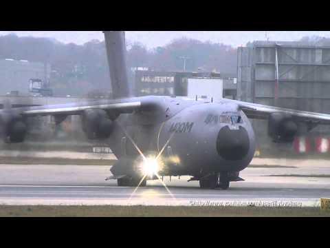 Airbus A400M Atlas [F-WWMZ] Takeoff @ Hamburg Finkenwerder
