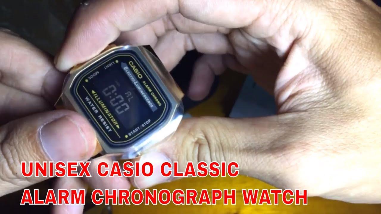 393bc80acaf4 UNISEX CASIO CLASSIC LEISURE ALARM CHRONOGRAPH WATCH - YouTube
