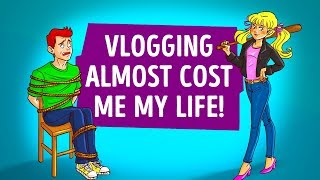 VLOGGING ALMOST COST ME MY LIFE  HORROR STORY ANIMATED