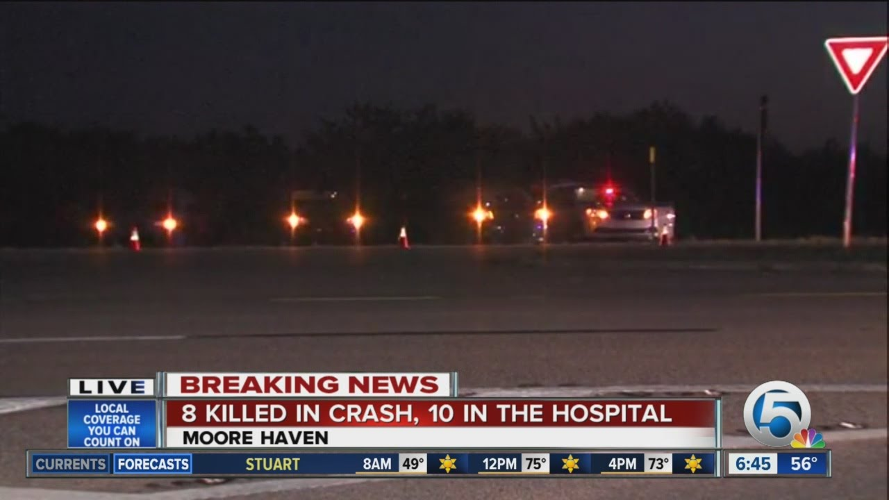 Three-car wreck leaves 9-year-old dead, 8 hurt. Two drivers ran away, FHP said.