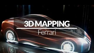 VIDEO MAPPING 360° -  Ferrari California T - Dubai - Giochi di Luce
