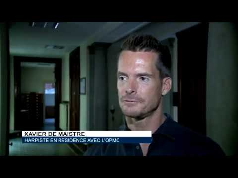 Xavier de Maistre, harpiste en résidence avec l'OPMC