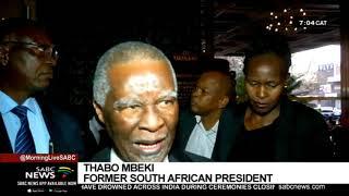 Former Presidents Zuma and Mbeki arrive for Mugabe's funeral