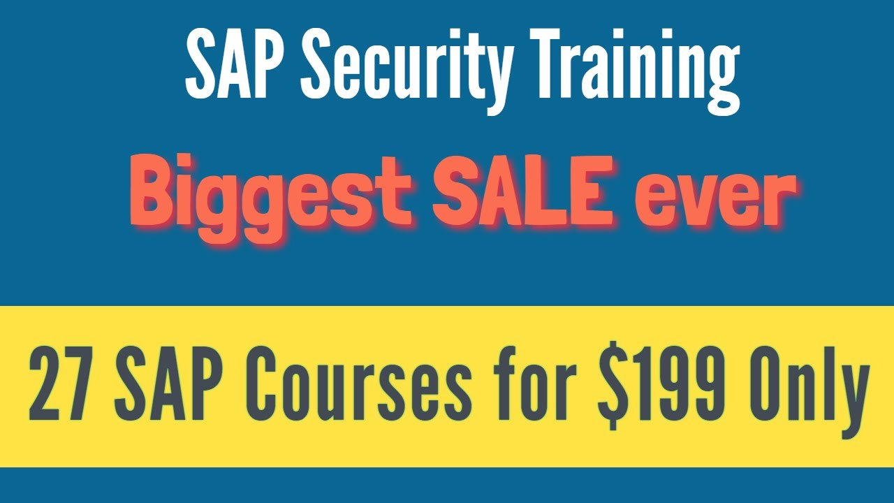 SAP Security Training - Complete SAP Security Video Based Course