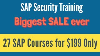 SAP Security Training -  Complete SAP Security Video Based Course(We offer complete SAP Security Training. It's a video based course. Please visit https://www.tekvdo.com/course/sap-security-online-training for further details., 2014-07-16T00:07:49.000Z)