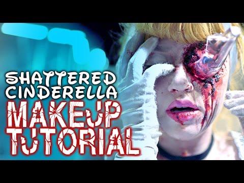 SHATTERED CINDERELLA -  Beauty & FX Makeup tutorial - Glam&Gore Disney Princess