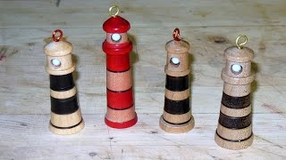 Turning A Lighthouse Christmas Tree Ornament
