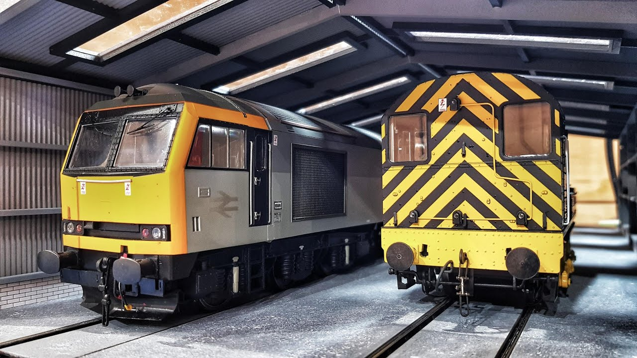 Railway Laser Lines - O Gauge 2 Road Service Shed - Images From Our Demo Build
