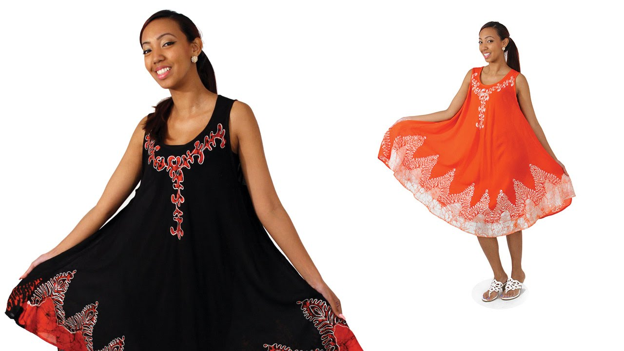 Afro centric embroidered summer dress from africa imports youtube