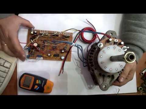 Brushless Neodymium Motor pancake type 3- Alternator Motor