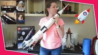 LEGO NASA Apollo Saturn V Ideas 21309 Time-lapse build (Jun 2017)