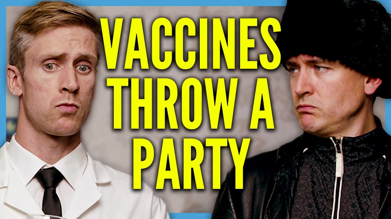 Vaccines Throw a Party   Foil Arms and Hog