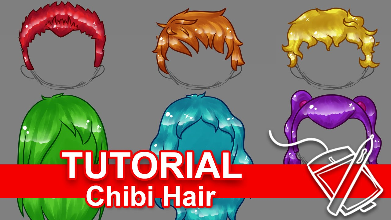 tutorial  how to draw chibi hair  six ways    for beginners