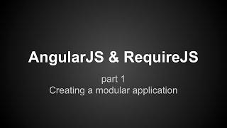 AngularJS RequireJS tutorial