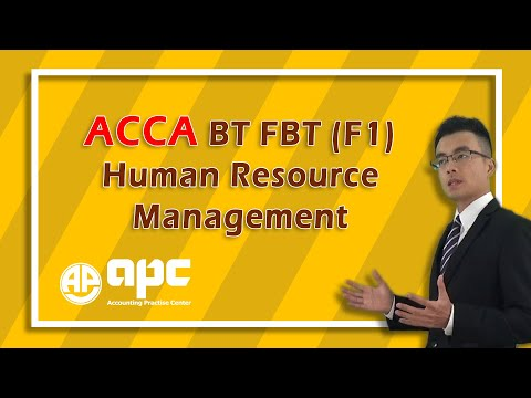 ACCA F1 Human resource management